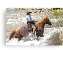 High Country horseman Canvas Print