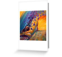 """River Orchid"" Large Contemporary Trout Painting  Greeting Card"