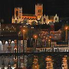 Lincoln Cathedral at night by Chris-Cox