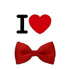 I heart Bow Ties by Tangledbylove