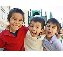 3 Boys Crazy Faces RO Photographic Print