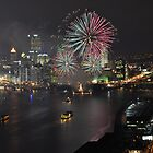 Golden Triangle Fireworks by Shadrags