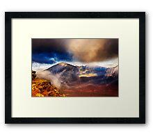 Sunset Over Haleakala Crater 2 Framed Print