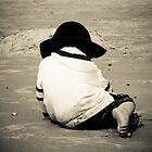 Young Boy on beach  by KSKphotography