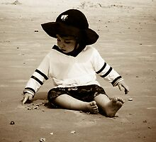 Playing in the sand  by KSKphotography