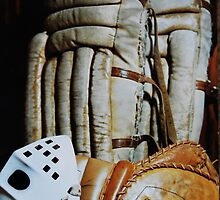 Vintage Hockey Goalie Equipment by Laurie Minor