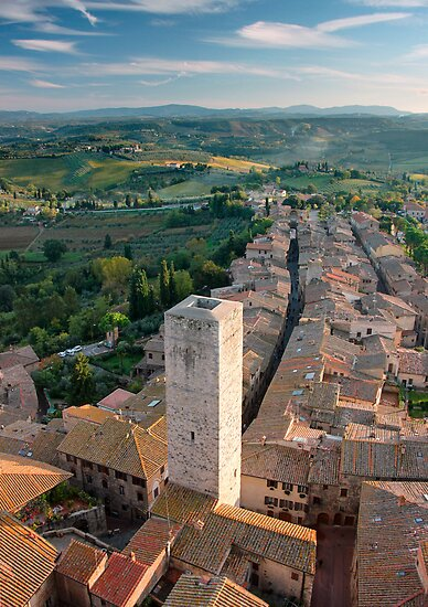 Tuscan light, San Gimignano  by Chris Allen
