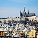 (Prague) Chratsani castle view from Charles Bridge  by vagelis