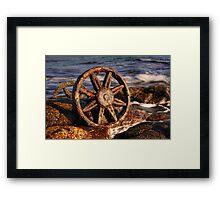Old relics swept ashore Framed Print