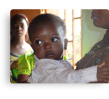Bright eyes in Cameroon, Central Africa Metal Print