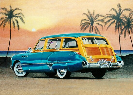 1949 Buick Super Estate Wagon ver 1 by brianrolandart