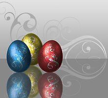 Glamour Easter Eggs by sorayashan