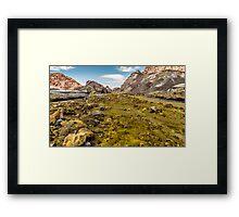 Volcano Floor White Island Framed Print