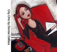 City Chic on the phone by Denise Daffara