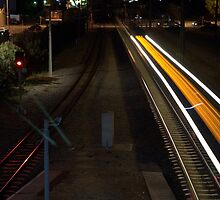 Trains at Cottesloe, Light Trails by Angie66