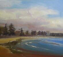 Cloudy day in Manly by Tash  Luedi Art