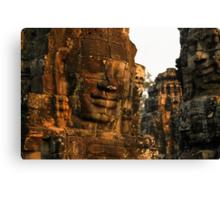The Bayon temple, Angor complex, Cambodia. Canvas Print