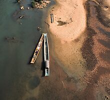 Boats from above. by Phil Bower