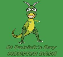 St Patrick's Day Monster Bash T-Shirt by Dennis Melling