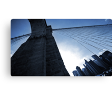 Falling Lines - Brooklyn Bridge II Canvas Print