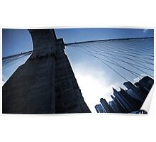 Falling Lines - Brooklyn Bridge II Poster