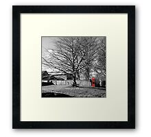 The Village Green at Cold Kirby Framed Print