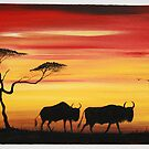 Wildebeest by Abumwenye