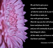 Colossians 1:9,10 by Deborah McLain