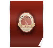 Ogden's Olde Time Firewhiskey Poster