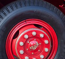 1952 L Model Mack Pumper Fire Truck Wheel by Jill Reger