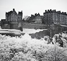 Scotland - Edinburgh Castle Infrared by Kaitlin Kelly