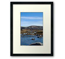 Mount Kosciuszko 2 - The river Framed Print