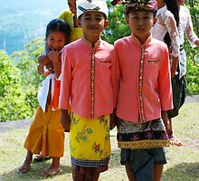 kids at puri agung by Michael Brewer