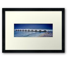 Merewether Baths - Back Blocks Framed Print