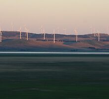 Wind Turbines at Dusk by Geoff Smith