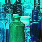 Antique Glass Bottles by RebekahShay