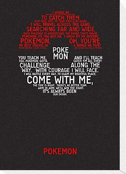 Pokemon Typography by TitanVex