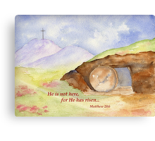 Easter Joy - Matthew 28:6 Canvas Print