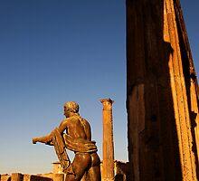 Statue of Apollo in the temple of Apollo, ruins of Pompeii by buttonpresser