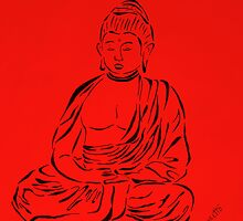 Red Buddha by Allegretto