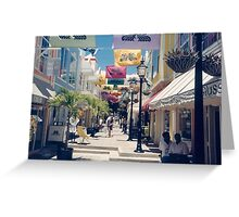 Colorful St. Maarten Shopping, Carribean  Greeting Card