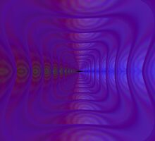 Square Tunnel in Purple by Objowl