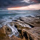 Through Spray and Crashing Waves - St Andrews, Victoria, Australia by Sean Farrow