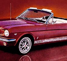 1965 Ford Mustang Convertible by brianrolandart