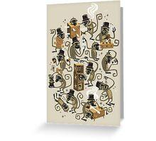 Monkey Magic (brown) Greeting Card