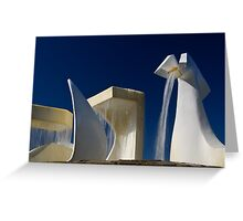 Albatross Fountain 2 Greeting Card
