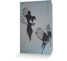 friendly feathers Greeting Card