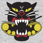 Cat Flag &quot; Tank Cat &quot;  by BUB THE ZOMBIE