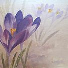 Sunbathing Crocus by Patsy Smiles
