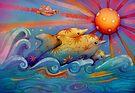 rainbow dolphins by © Karin  Taylor